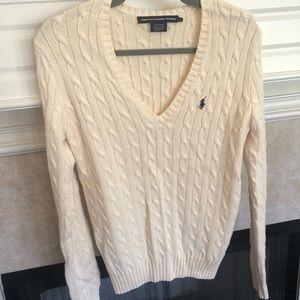 Cream polo sweater